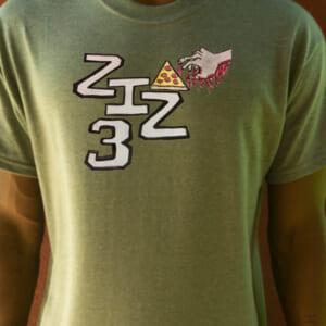 Olive Green - ZIZ3 Pizza Shirt
